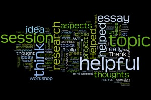 Wordle Showing Student Feedback