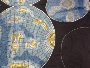The map side of the quilt