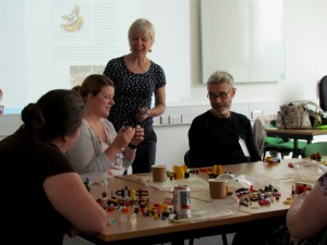 Alison James' 'When the going gets tough, the tough build with LEGO' workshop