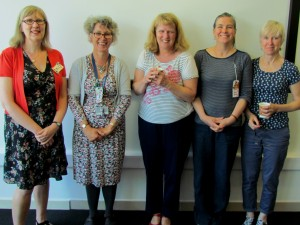 L to R: Julia Reeve, Kaye Towlson, Harriet Edwards, Julia Lockheart, Alison James