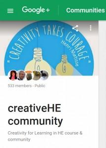 creative HE community