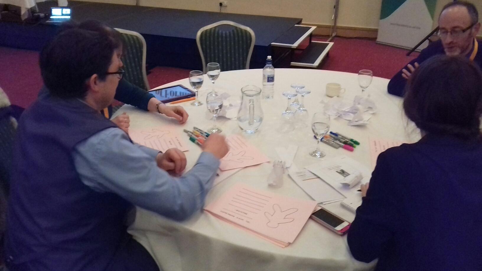 Participants get creative...