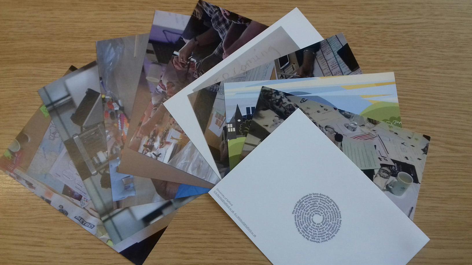Postcards for participants